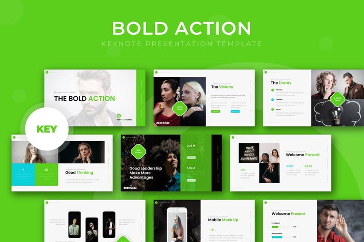 Thumbnail for Bold Action - Keynote Template