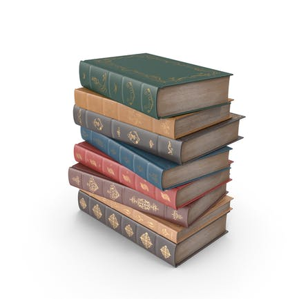 Kurzer Stapel klassischer Bücher
