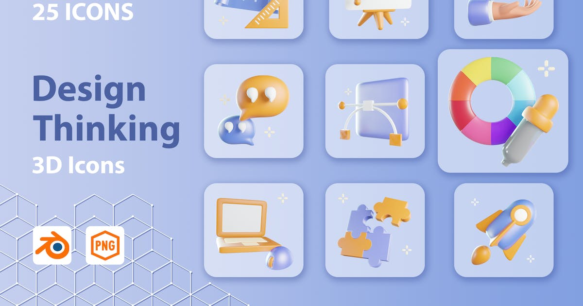 Download Cubicle - Design Thinking 3d Icon by kerismaker