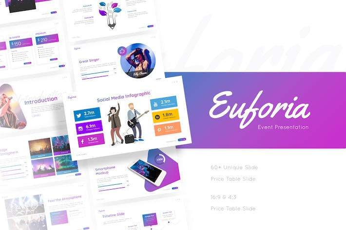 Thumbnail for Euforia - Concert Powerpoint Template