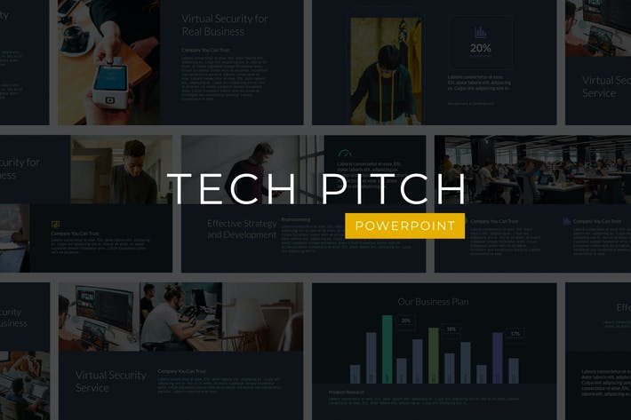Thumbnail for Tech Pitch - Powerpoint Template