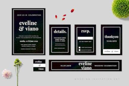 Wedding Invitation Set Vol.03