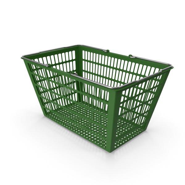 Зеленая корзина для покупок