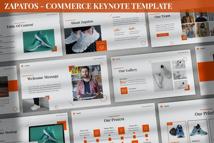 Thumbnail for Zapatos - Commerce Keynote Template