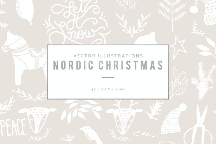 Thumbnail for Nordic Christmas Graphics