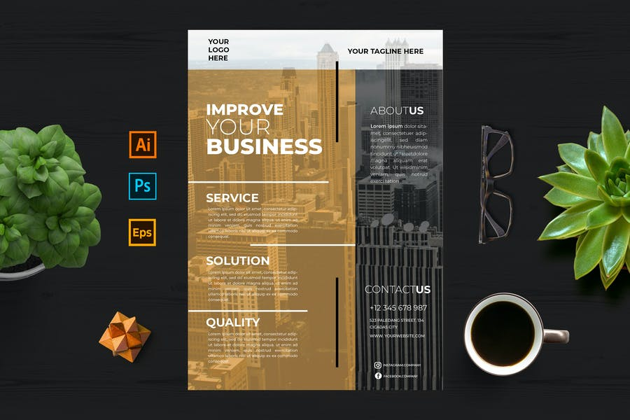 Improve Your Business Flyer