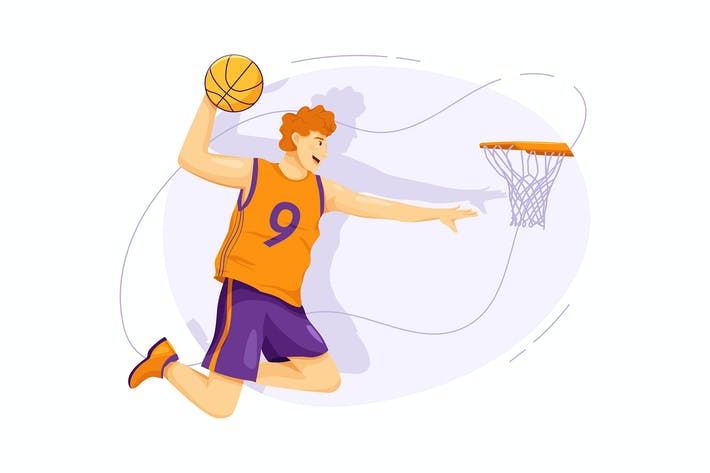 Thumbnail for Basketball-Vektor Illustration