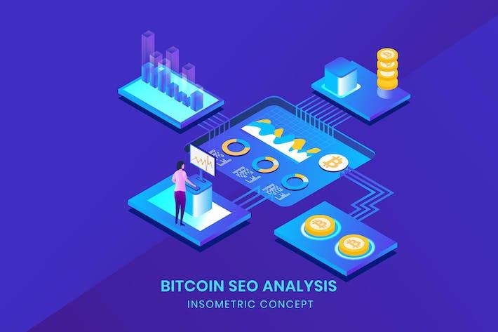 Thumbnail for Bitcoin Seo Analysis - Insometric Vector
