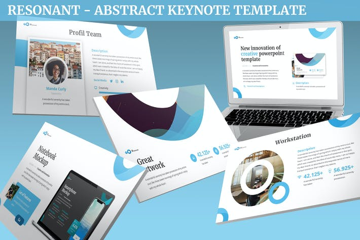 Thumbnail for Resonant - Plantilla de Keynote Resumen