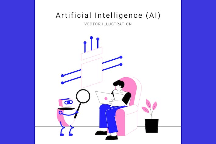 Artificial Intelligence (AI) Vector Illustration