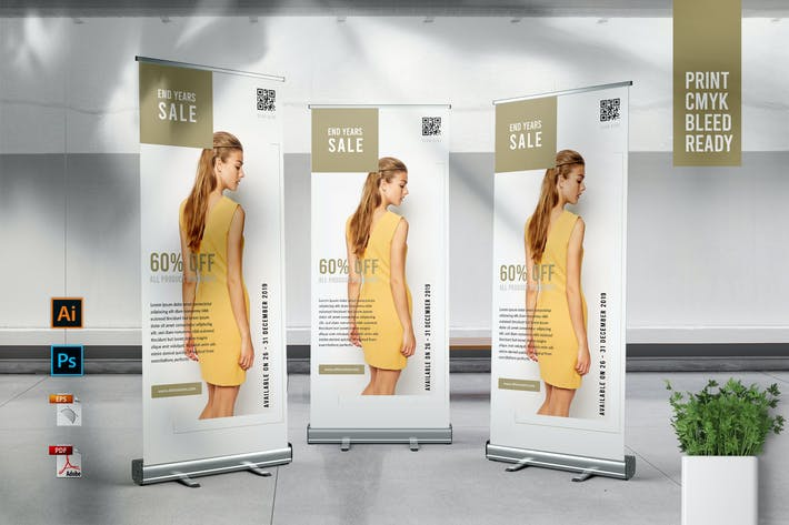 Thumbnail for ALTIMA Fashion Store Roll Up Banner Template