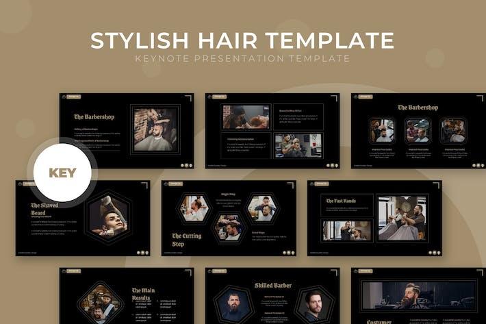 Thumbnail for Stylish Hair - Keynote Template