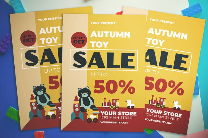 Cover Image For Autumn Toy Sale Flyer