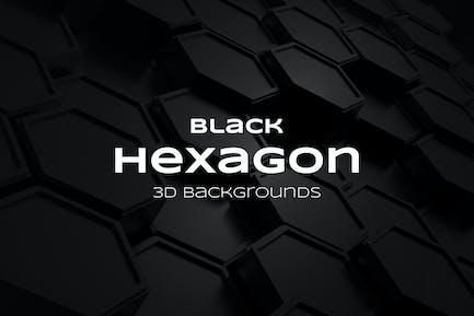 Fondos hexágono negro
