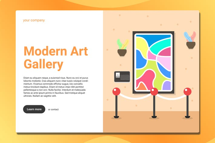 Art Gallery - Landing Page