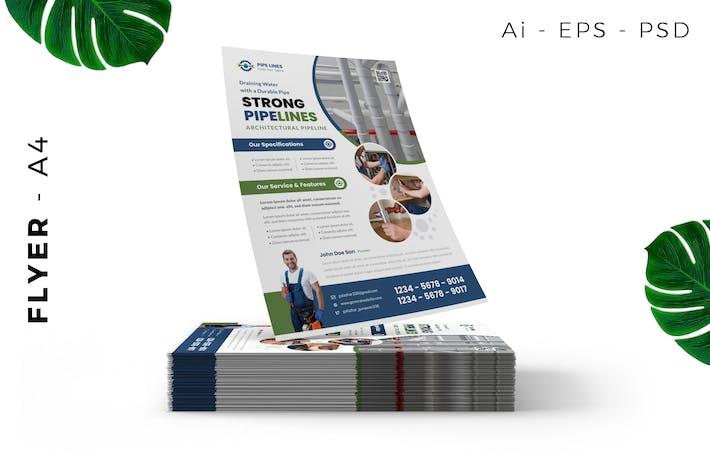 Pipe Plastic Flyer Design