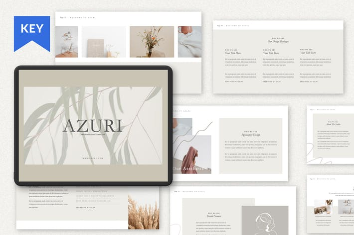 Thumbnail for Azuri Analyze Business Keynote Template