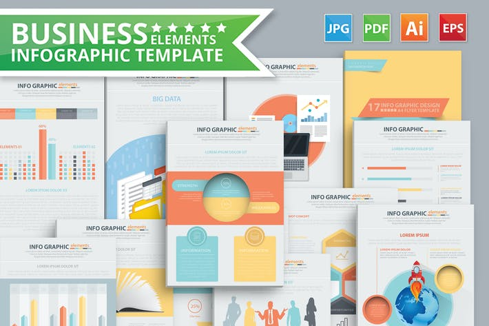 Thumbnail for Business Infographic Templates