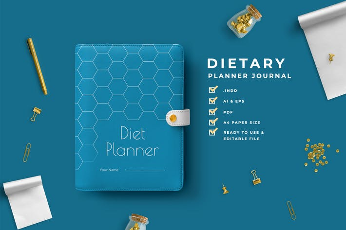 Thumbnail for Blue – Dietary Planner Journal
