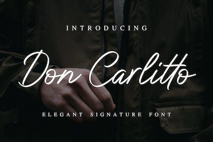 Don Carlitto - Elegante fuente de firma