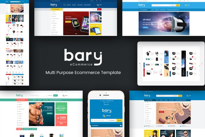 Cover Image For Bary - Responsive Prestashop Theme