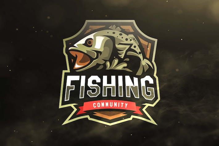 Thumbnail for Fishing Community Sport and Esports Logos