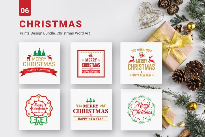 Thumbnail for Christmas Bundle of  SVG PNG EPS Cutting Files