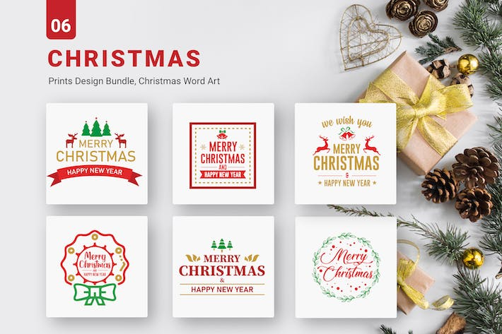 Christmas Bundle of  SVG PNG EPS Cutting Files