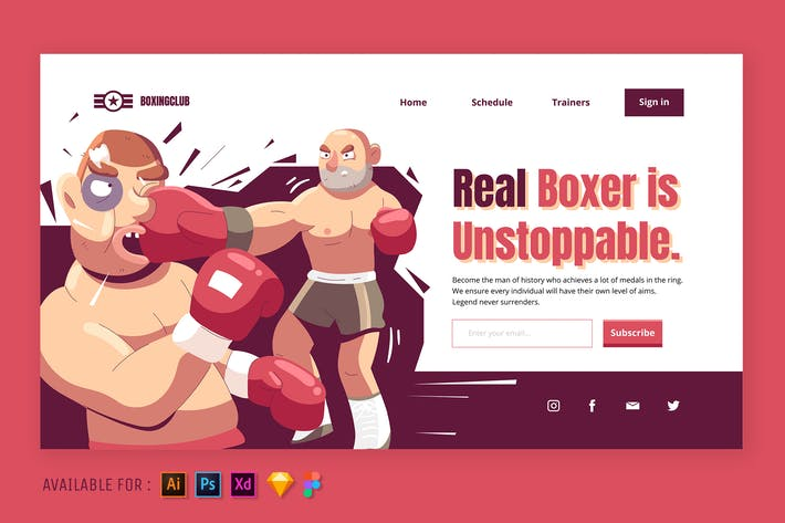 Thumbnail for The Real Boxer - Web Illustration
