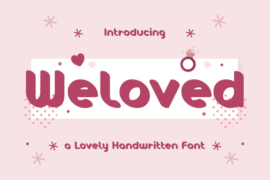 Weloved – Romantic Display Font