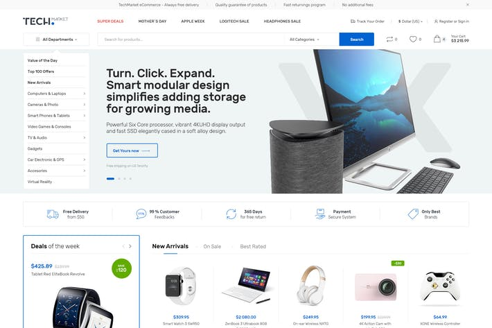 Thumbnail for TechMarket - Ultimate Shopify Resonsive Theme