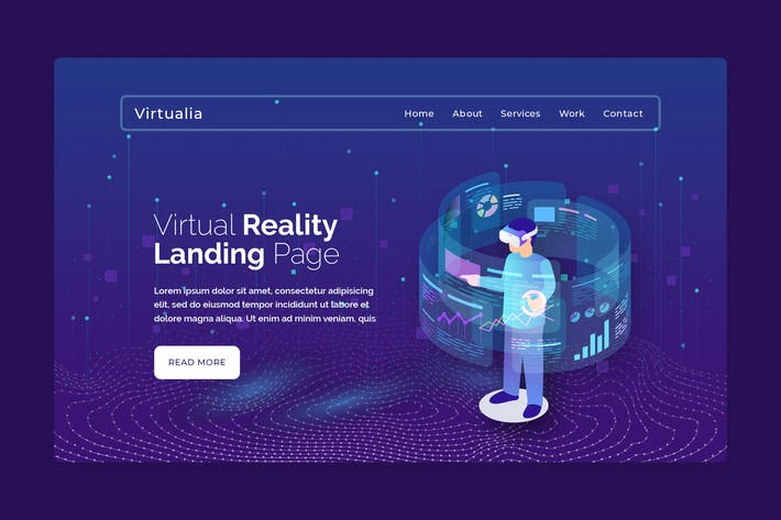 Thumbnail for Virtualia - Premium Web Page Hero Banner