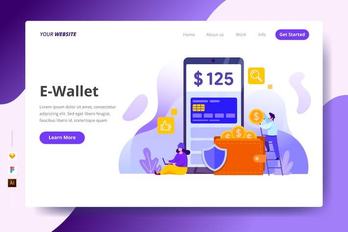 Thumbnail for E-Wallet - Landing Page