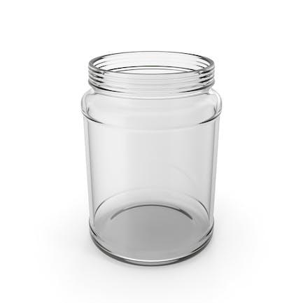 Tarro de vidrio vacío