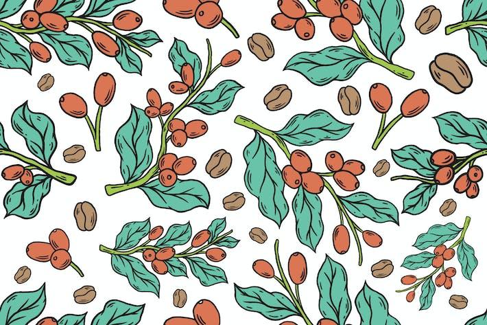 vector seamless pattern coffee