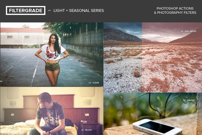 Thumbnail for FilterGrade Light & Seasonal Photoshop Actions