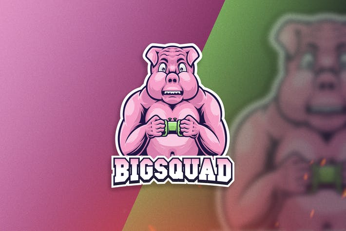Thumbnail for Big Pig Sport Logo Template