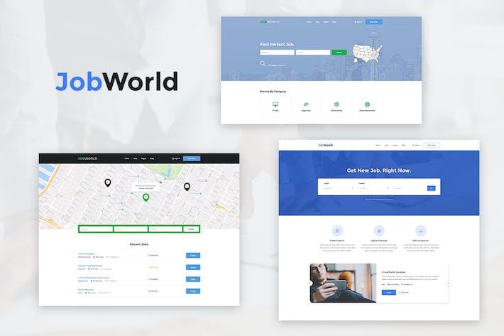 Thumbnail for Job Portal Template | Job World