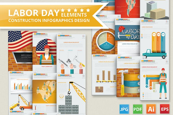 Thumbnail for Labor Day Infographics Design