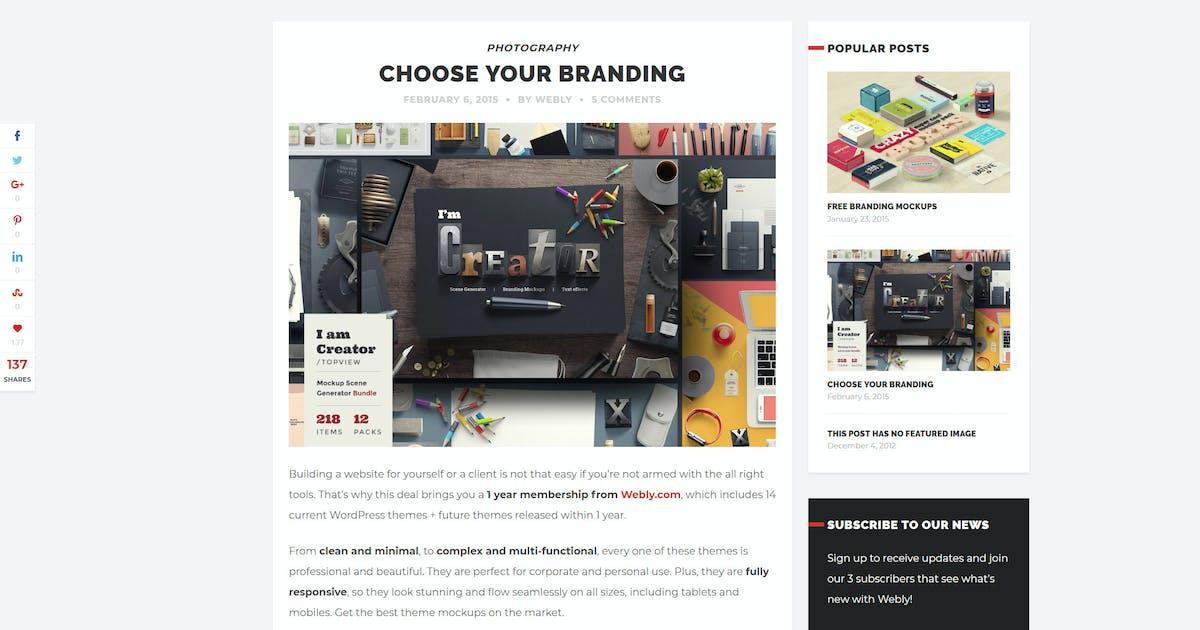 Download Webly - WordPress Blog Theme by gljivec