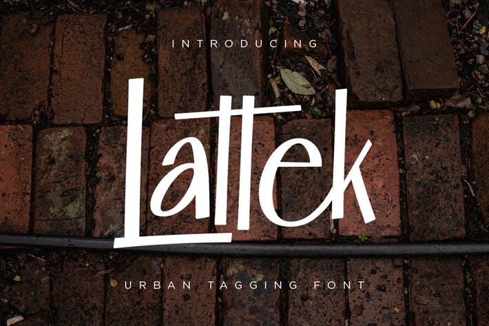 Thumbnail for Lattek - Urban Tagging Font