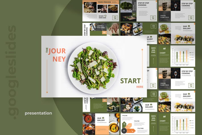 Santab - Restaurant Google Slides Presentation