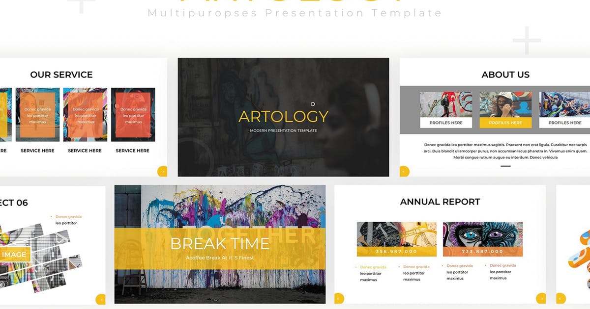 Download Artology - Powerpoint Template by SlideFactory