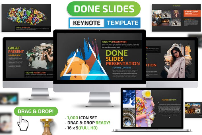 Thumbnail for Done Keynote Presentation Template