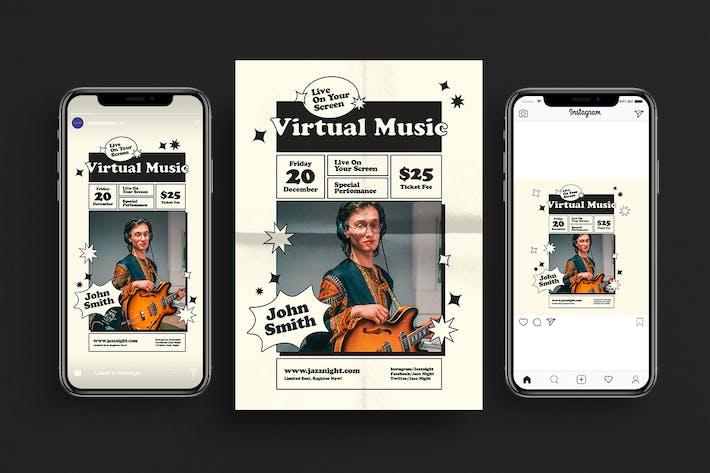 Thumbnail for Virtual Live Music Flyer