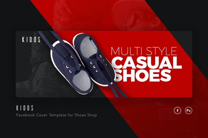 Thumbnail for Kidos - Kids Shoe Shop Facebook Cover Template