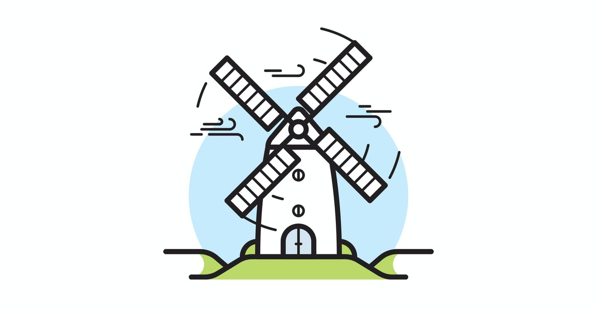 Download Windmill vector illustration by mir_design