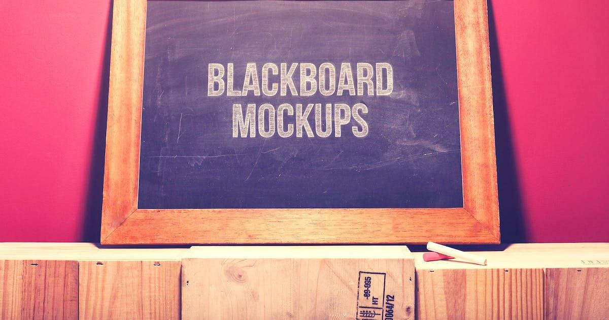 Download Blackboard / Chalkboard Mock-ups with Chalk Action by BlackNull