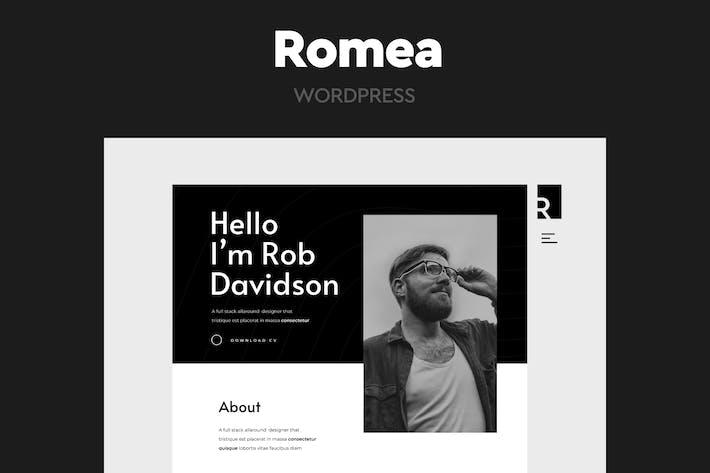 Thumbnail for Romea - Persönliches Portfolio WordPress Thema