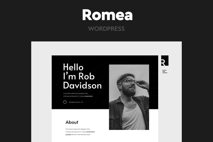 Romea - Persönliches Portfolio WordPress Thema